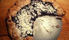 Tarta rustykalna z borówkami